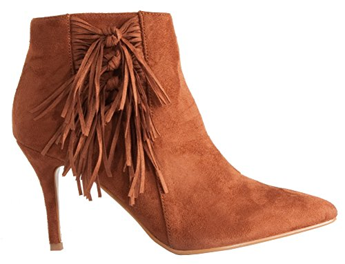WOMENS COWBOY 29 HEEL Tan BLOCK LADIES BOOTIES MID WESTERN SIZE Style HIGH HEELED CUBAN WINTER ANKLE BOOTS 3 8 rzrnxRf