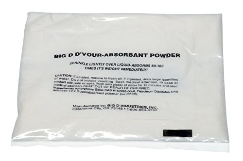 Big D 170 D-Vour Absorbent Powder, Lemon Fragrance, 1.5 oz Packet (Pack of 12) - Absorbs accidental spills for easy clean-up - Ideal for use in schools, restaurants, health care facilities, grocery stores