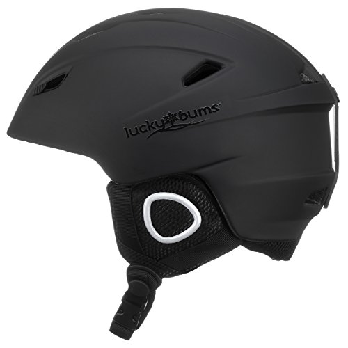Lucky Bums Powder Series, Snow Sport Helmet, Black, Extra-Large