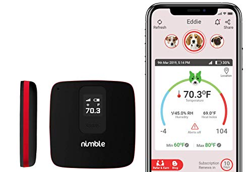 RV PetSafety | Pet Monitor 4G Powered by Verizon Cellular - No WiFi Needed - Pet Environment Temperature & Humidity Monitor - 24/7 Alerts - Built with Digital Display & GPS Tracking