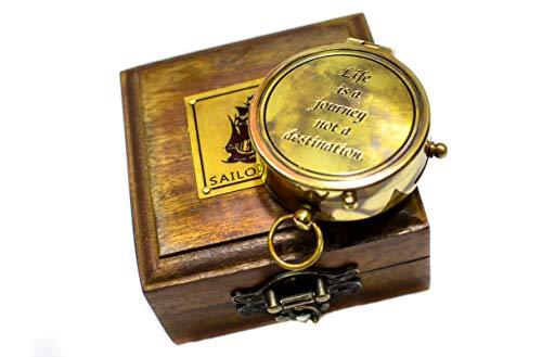(Sailor's Art Antique Brass Compass 2