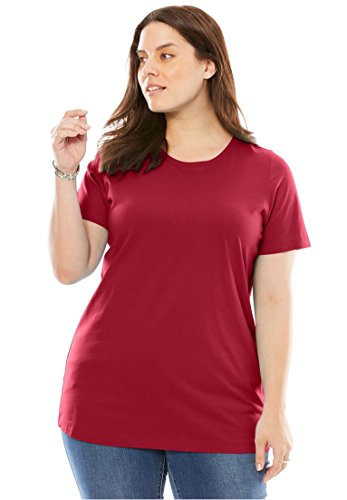 Women's Plus Size Perfect Crewneck Tee Classic (Ladies Classic Crewneck Tee)