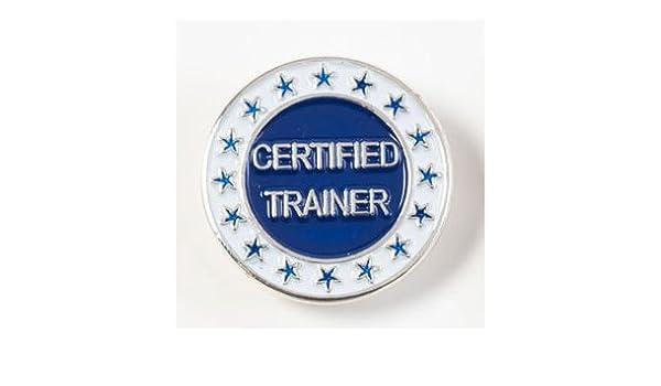 Certificado Trainer lapel pins – plateado/azul (10/Unidades ...