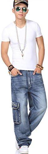 ストリート系 大きいサイズ ミリタリー ジーンズ メンズ デニム パンツ ストレッチ レギュラー ストレート ジーパン ズボン カーゴパンツ ヒップホップ カジュアル ゆったり 動きやすい ロングパンツ キングサイズ