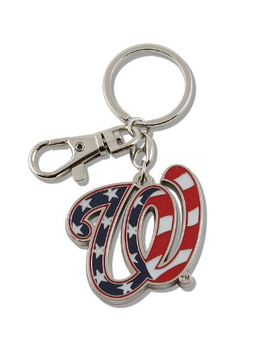 aminco MLB Washington Nationals Team Logo Heavyweight Key Ring