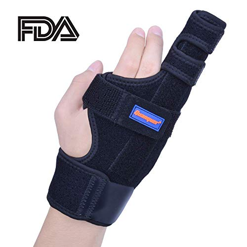 Boxer Splint- Original Metacarpal Splint for Boxer's Fracture, 4th or 5th Finger Break, Post-Operative Care and Pain Relief (S/M)