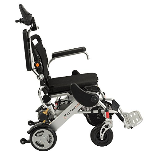 23 Power Wheelchair - F KD FoldLite Folding Electric Power Wheelchair FDA Approved, Lightweight and Portable, CNC Front Fork with Suspension, Weight Capacity: 254 lbs.