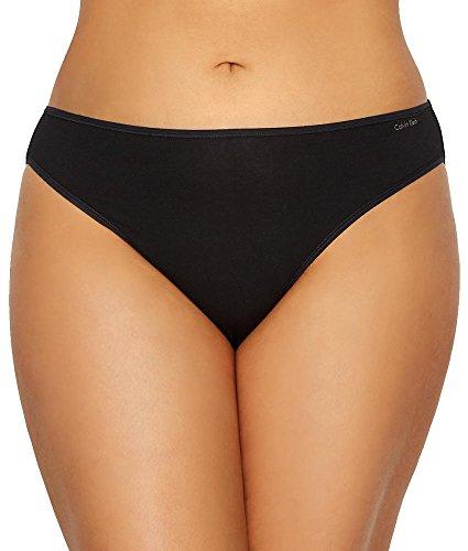 Calvin Klein Women's Plus Size Form Bikini, Black, 3X