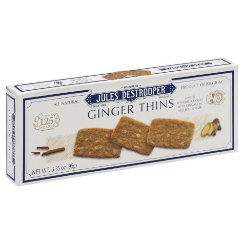 Jules Destrooper Cookie Thin Ginger, 3.35 (Jules Destrooper Ginger Thins)