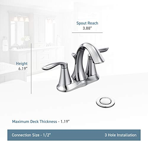 Phiestina Solid Brass Brushed Nickel Two Handle Widespread