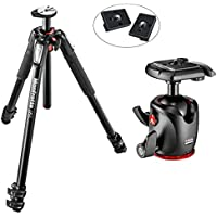 Manfrotto MT055XPRO3 055 Aluminium 3-Section Tripod Kit with MHXPRO-BHQ2 XPRO Magnesium Ball Head with Two Replacement Quick Release Plates for the RC2 Rapid Connect Adapter