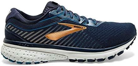 Brooks Men s Ghost 12 Road Running Shoes – Navy Deep Water Gold – Size 9.5EEEE