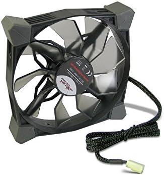 Inter-Tech N-120-G - Ventilador de PC (1.8 W, 12 V, Negro, 120 x ...