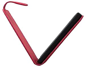 So'axess HOULGT385CR - Funda de carbono con tapa para LG T385, color rojo