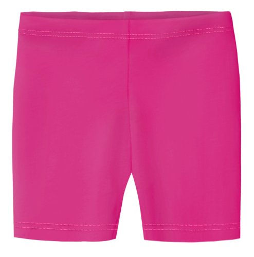(City Threads Big Girls Underwear Bike Shorts in All Cotton Perfect for SPD and Sensitive Skin Sports Dance School Uniform, Hot Pink 14)