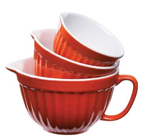 Keramik verschachtelt Messbecher Farbe  Orange B0094GABP0 Messbecher & & & Mae f0a7b3