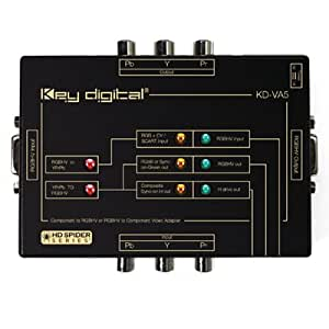 Key Digital KDVA5 RGBHV/VGA to Component Video Adapter