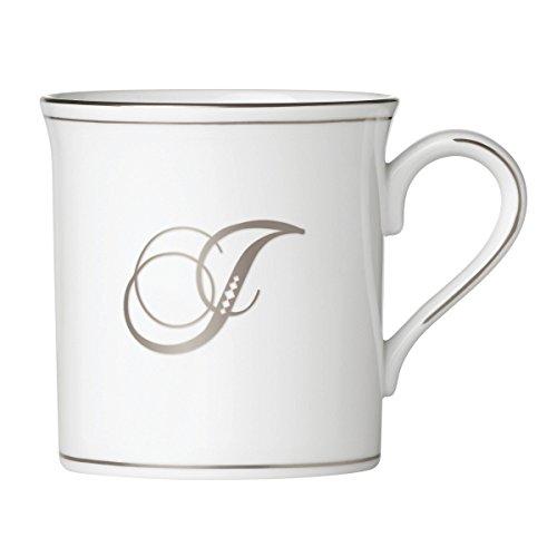 (Lenox Federal Platinum Script Monogram Dinnerware Mug, J)