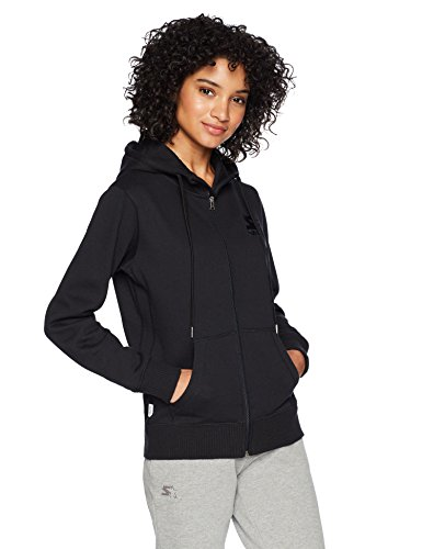 - Starter Women's Zip-Up Embroidered Logo Hoodie, Amazon Exclusive, Black, Large
