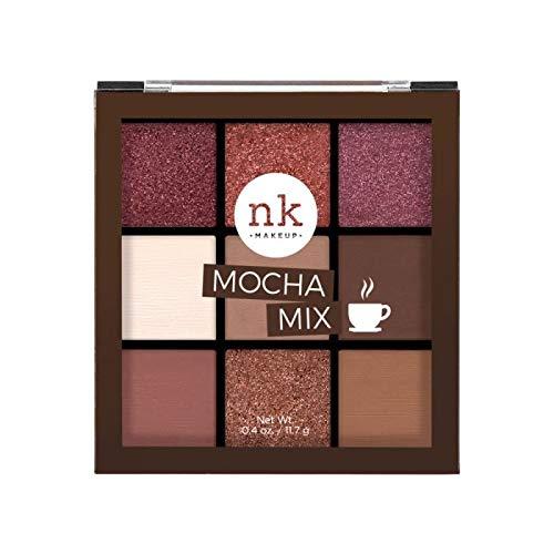 Nicka K Nine Color Eyeshadow Palette – Mocha Mix, Multicolor, 11.7 g