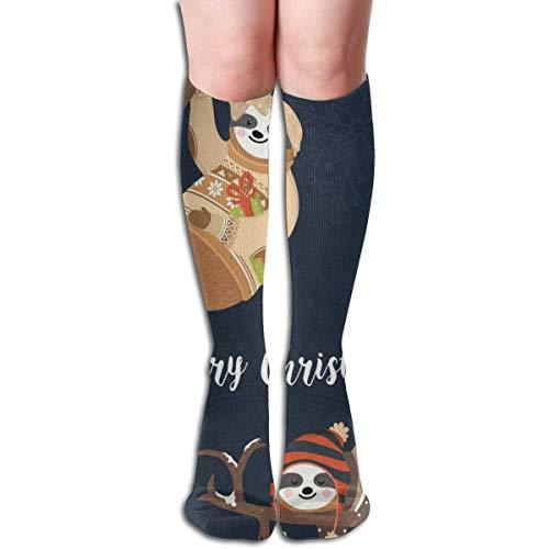 (Klein Eletina Stockings Velveteen Socks Merry Christmas Sloth Marvellous Womens Stocking Accessory Sock for Girls)