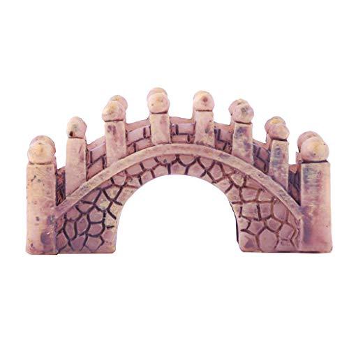 Flameer Miniature Resin Bridge Model Toy for Indoor Fairy Garden Decor Art Crafts #1