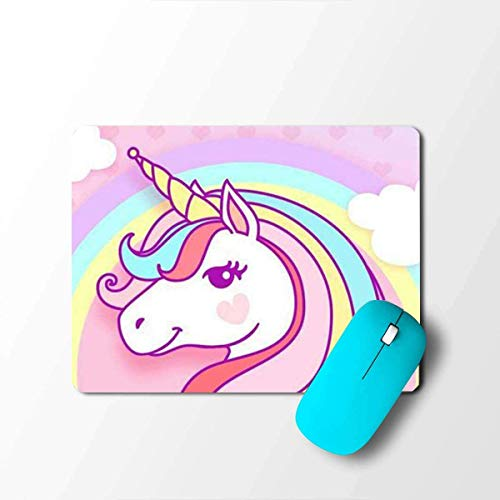 Colorful Cute Unicorn Animal Pink Designer Printed Laptop/Desktop/Computer Mousepad/Mouse Pad (Best for Gaming/Gamers)