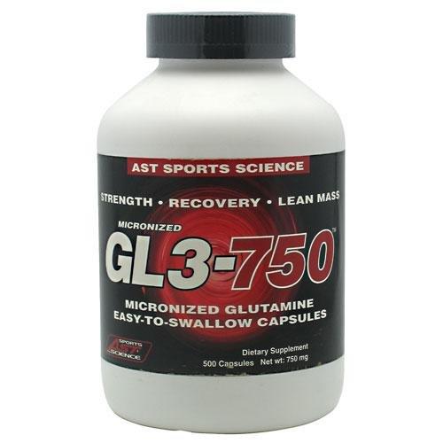 Sport AST GL3 sciences microcourants 750 L-Glutamine Caps, 500 gélules