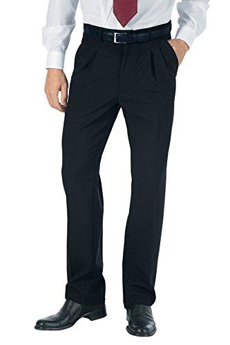 100% Poliestere 40 170 gr/m² Nero Isacco Pantalone Uomo senza Pinces Nero