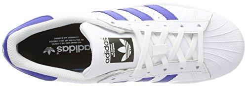 adidas Herren Superstar Laufschuhe Weiß (Footwear White/Bold Blue)
