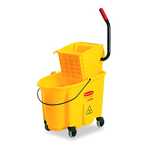 Rubbermaid 26-Quart Side Press Mop Bucket & Wringer Combo Yellow