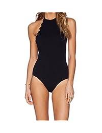 Women's One Piece Swimsuit, Sunsea Backless Swimwear, Bathing Suit for women ladies