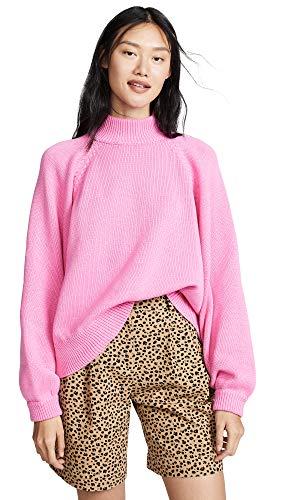 I Love Mr Mittens Women's Maxi Sweater, Bubble Gum, XS/S