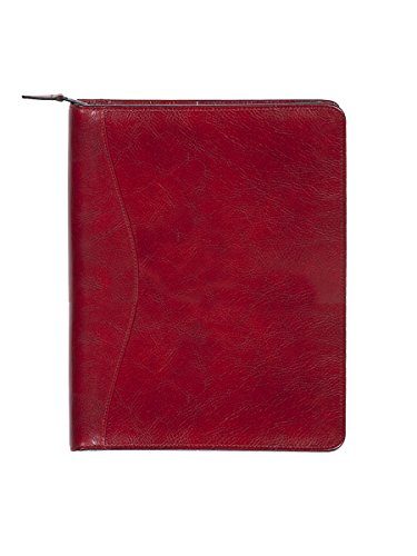 Scully Women's 5014Z Italian Leather Planner Padfolio (Red) by Scully