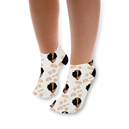 English Mastiff Dog Pattern Unisex Toddler Baby Ankle Socks Funny Novelty Kids Socks Polyester & Polyester Blend - Single