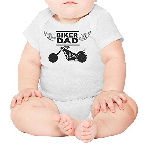 PoPBelle Funny Motorcycle Biker dad Newborn,Baby Onesies,Baby Onesie} White Clothes Bodysuits Funny One-Piece Cotton Short Sleeve