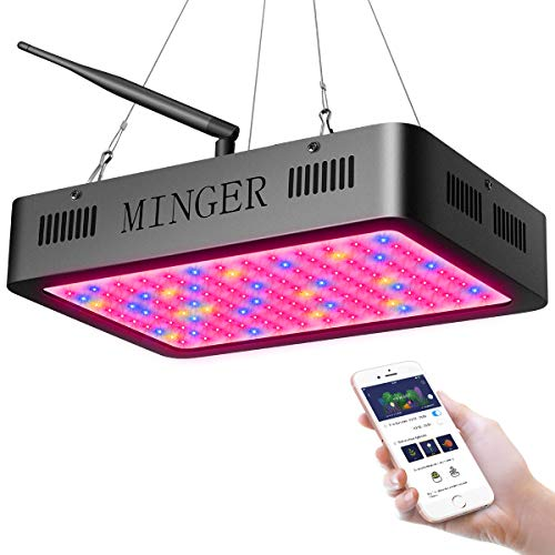 MINGER LED Grow Light 600W Plant Light with APP Control, Dimmable Full Spectrum Grow Lamp with Timer for Veg/Bloom Channels, Greenhouse Tent and Indoor Plants Veg Flowers (5W LEDs 120Pcs)