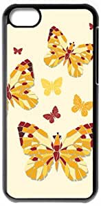 Butterfly HD image case for iphone 5c black + Gift