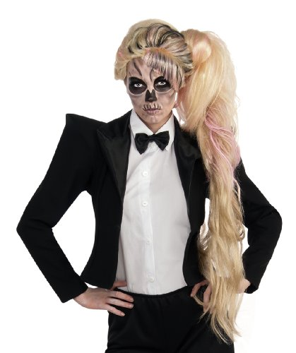 Lady Gaga Side Ponytail Wig, Multicolored, One (Lady Gaga Costumes For Halloween)