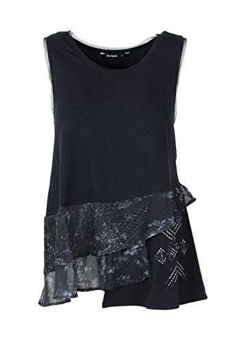 fba T Noir 18swtkef Calendre Desigual Shirt vRXq76qf