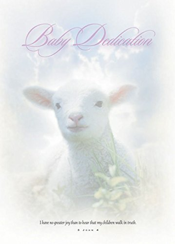 Baby Dedication Certificate - 5x7 folded, Premium, Full Color (Pack of 6)