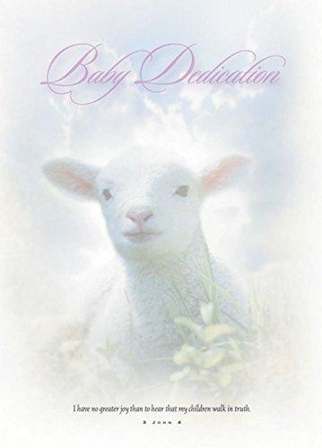 (Baby Dedication Certificate - 5x7 folded, Premium, Full Color (Pack of 6))