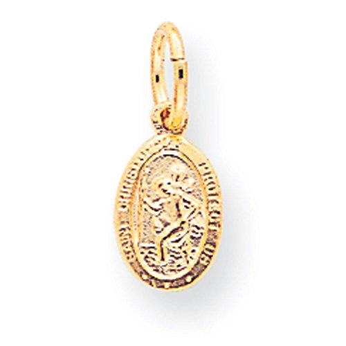 10k gold st christopher medal - 3