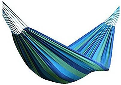 Merry Xmas Canvas Striped Outdoor Hammock/Outdoor Bed Blue