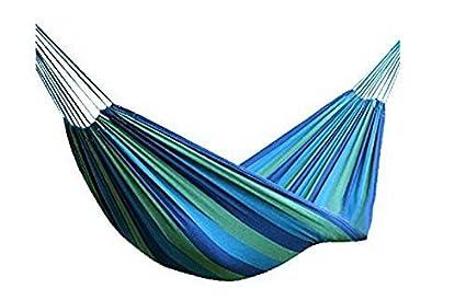 Merry Xmas Canvas Striped Outdoor Hammock/Outdoor Bed(Blue)