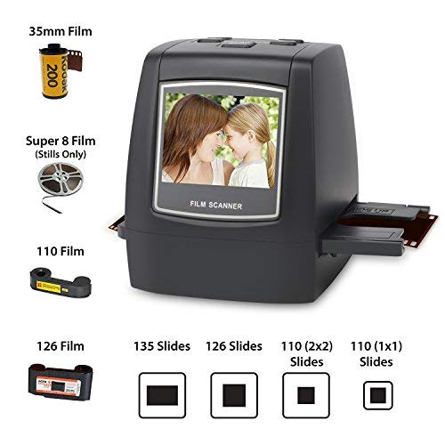 DIGITNOW Film Scanner with 22MP Converts 126KPK/135/110/Super 8 Films, Slides, Negatives All in One into Digital Photos,2.4'' LCD Screen, Impressive 128MB Built-in Memory by DIGITNOW