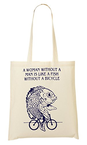 Bolsa Funny Fish De Is Compra Woman Cp Like Man Without Bicycle A Mano Bolso La A78wYx1