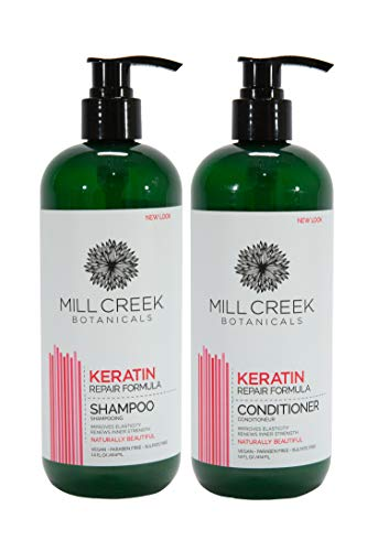 Mill Creek Botanicals Keratin Shampoo and Conditioner Bundle -