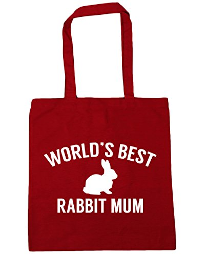 World's Shopping best Classic mum x38cm 10 Red Gym litres HippoWarehouse 42cm rabbit Tote Beach Bag dgxaXdnO