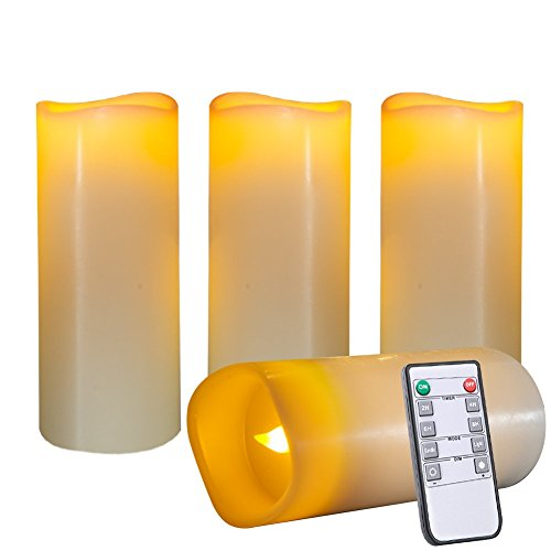 Beichi Real Wax Flameless Candles(3
